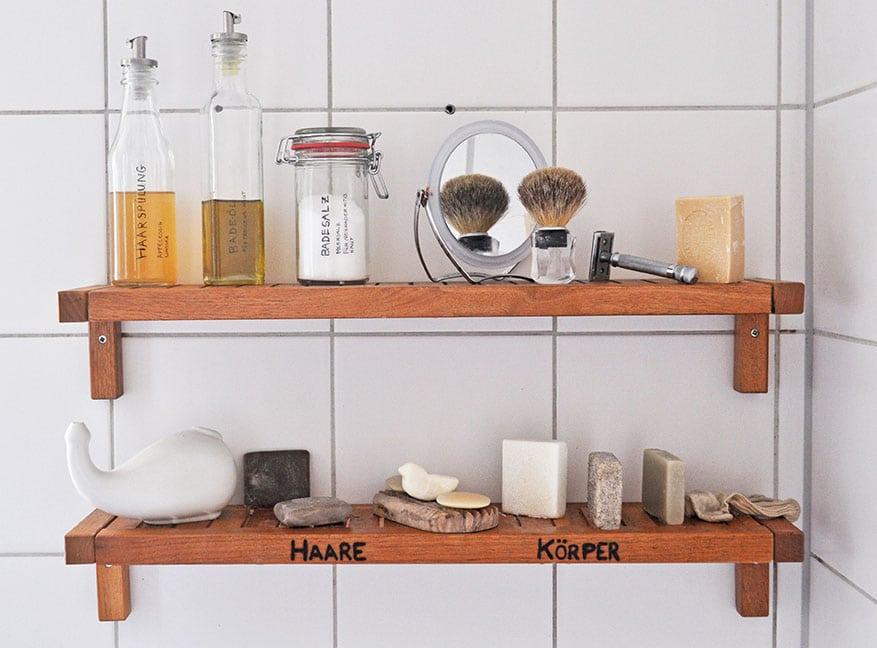 Alles was man in einer Zero Waste Dusche braucht